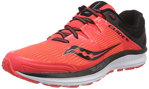 Saucony Women's Guide ISO Running Shoe, Vizi red/Black, 8 Medium US