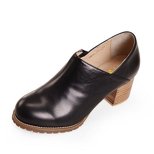 zapatos de moda de otoño/Zapatos del alto talón/Confort zapatos de mujer tacones gruesos con cabeza redonda B