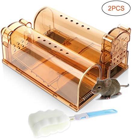 Sanwer ネズミ捕り マウスケージ 人道的 マウストラップ 再利用可能 ...