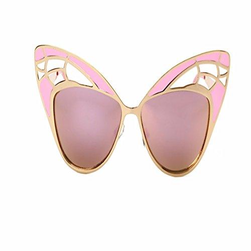 Gafas polvo Gato Hermosas Bastidor Gafas de Sol Pelotas Aire Ojos de y Mariposas de Intellectuality Negro Gafas Marco Pelotas Formas de ORfqBw4wx