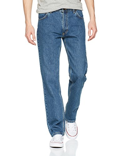 Uomo Jeans Straight Comfort dark Brooklyn Blu Lee Stonewash wFqA4IB