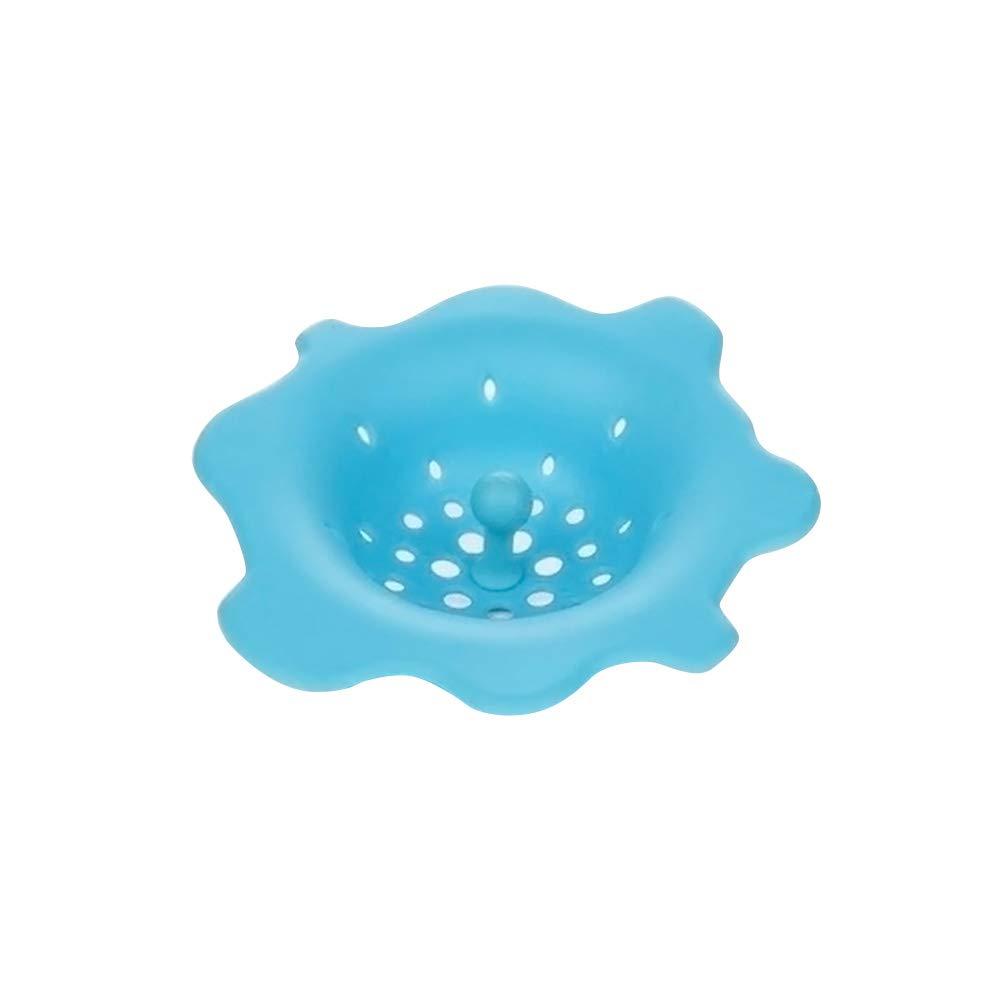 BESTONZON Waschbecken Filter Badewanne Haarsieb Silikon Kü che Spü le Sieb (Blau)