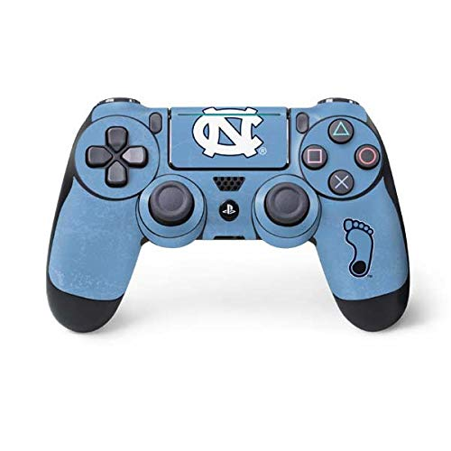 (Skinit North Carolina Tar Heels PS4 Pro/Slim Controller Skin - Officially Licensed College Gaming Decal - Ultra Thin, Lightweight Vinyl Decal Protection)