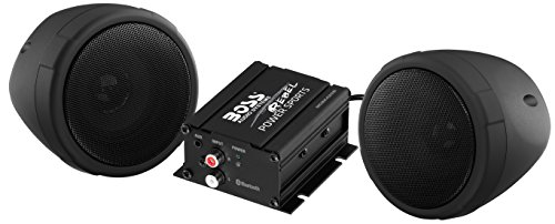 Bluetooth, All-Terrain, Weatherproof Speaker And Amplifier Sound System, Two 3 Inch Speakers, Bluetooth Amplifier, Inline Volume Control, Ideal For Motorcycles/ATV and 12 Volt Applications (Daytona 3 Scooter)