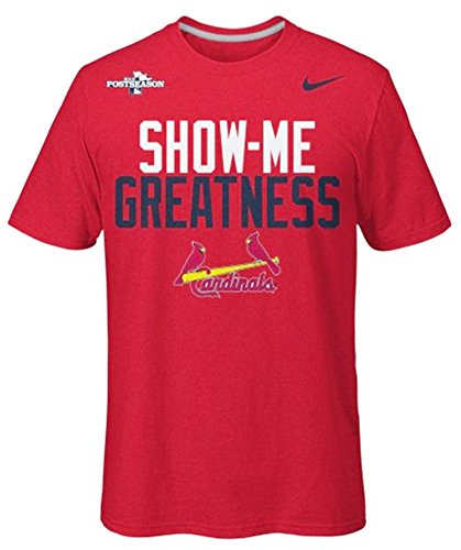 Nike St  Louis Cardinals Mens Mlb 2013 Playoffs  Show Me Greatness  T Shirt  Large  Red