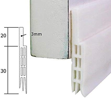 5 Lvguang Junta Adhesiva para Puerta para Sellar Burlete a Prueba de Polvo Aislamiento Ac/ústico Blanco # 2 100 0.5 cm
