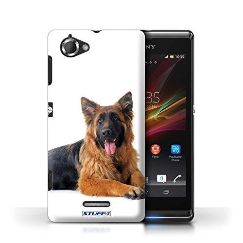 Etui / Coque pour Sony Xperia L/C2105 / Berger allemand conception / Collection de Chiens