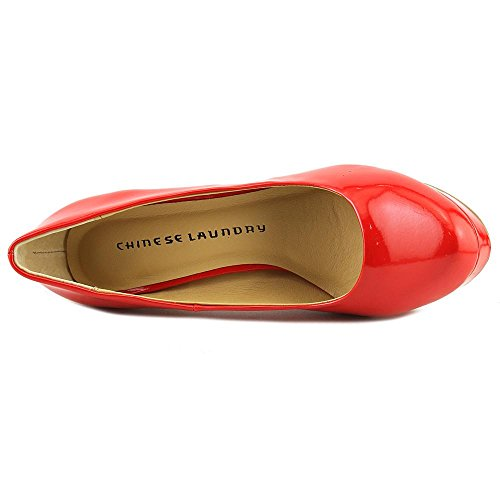 Wonder Laundry Platform Geschlossener Frauen Zeh Pumps Red Chinese AwqEPdw