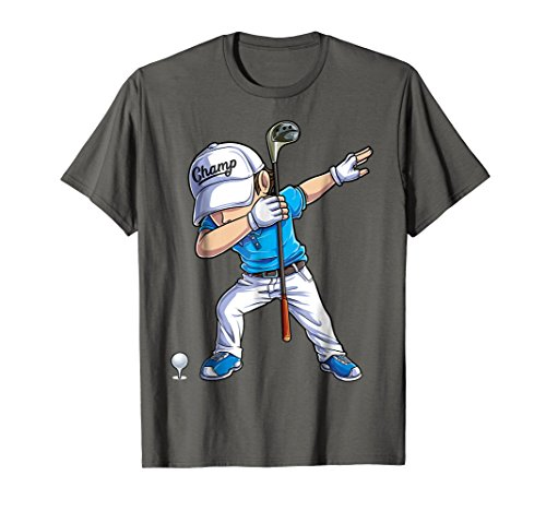 Dabbing Golf T shirt for Boys Dab Dance Golfing Golfer Gifts ()