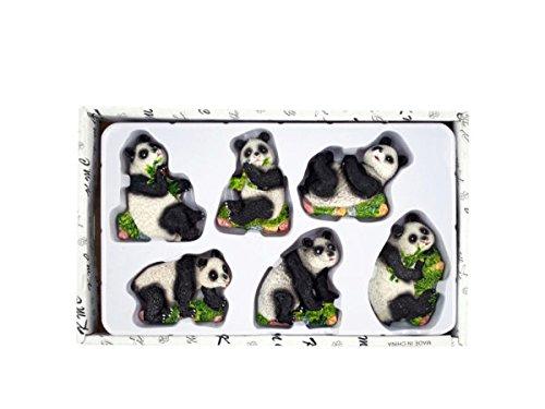 bulk buys HH093 Decorative Panda Bear Magnets Set, Natural