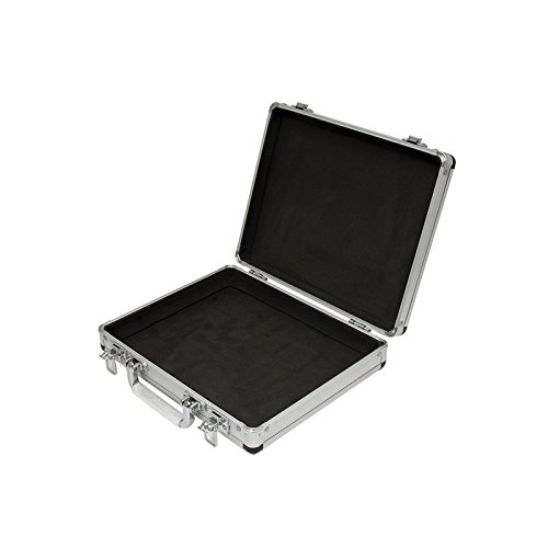Spy Case - SRA Cases EN-AC-FG-A036 Silver Aluminum Hard Case, 11 x 8.8 x 2.5 Inches