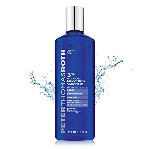 3% Glycolic Solutions Cleanser, Exfoliating Facial Cleanser with Glycolic Acid, Helps Improve the Look of Fine Lines, Wrinkles, Uneven Skin Tone, Pores, Smoothness and Radiance