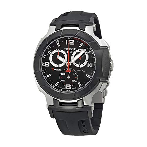 Tissot Men's T0484172705700 T-Race Black Chronograph Dial Watch