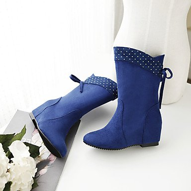 uk10 lavoro blue Nero Formale donna Blu eu44 Felpato PLM e Da Comoda Piatto Casual Ufficio Marrone Rosso cn46 us12 Stivaletti WSX Verde xqBR4wSY