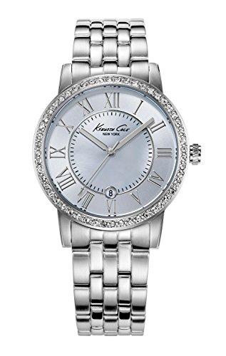 Bezel Mother Of Pearl Wrist Watch (Kenneth Cole New York Women's KC4973 Classic Mother-Of-Pearl Stone Bezel Bracelet Watch)