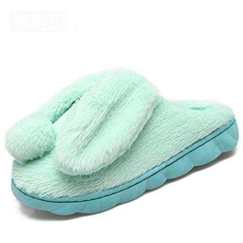 Pantofole Fine Verde Inverno Delle Spessa Di Donne Antiscivolo Cotone Coperta Caldo Carina Dww Casa Scarpe Comode nHCq8rHwxg