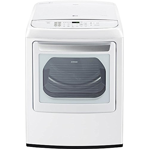 LG DLEY1901WE 7.3 Cu. Ft. White Electric Steam Dryer DLEY1901WE