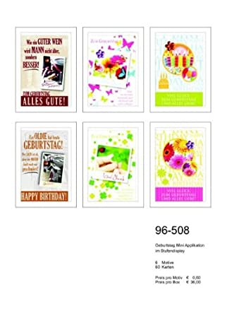 Tarjeta cumpleaños pantalla Mini tarjeta Aplicaciones 60 ...