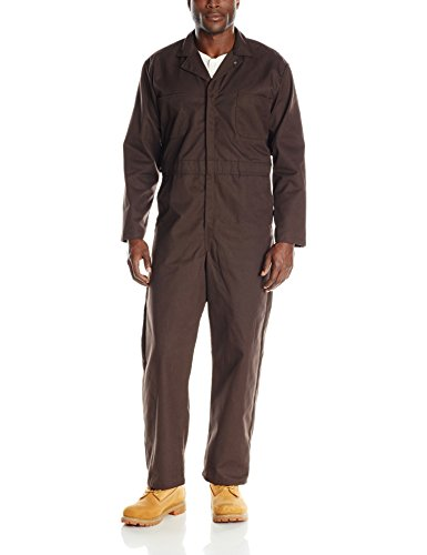 Red Kap Men's Long Sleeve Twill Action Back Coverall, Brown, 48