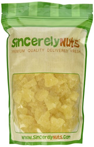 Sincerely Nuts Dried Pineapple Chunks - Two Lb. Bag - Beyond Delicious - Astounding Freshness - Bursting with Wholesome Nutrients - Kosher Certified