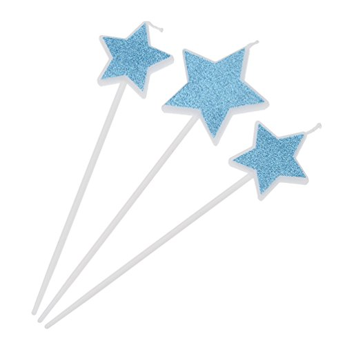 Candle Cake Toppers Love Dress Star Design Party Wedding Cupcake Decoration Gift