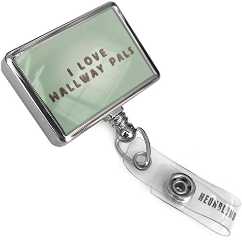 Furry Pal (Retractable ID Badge Reel I Love Hallway Pals Furry Teddy Bear Letters with Bulldog Belt Clip On Holder Neonblond)