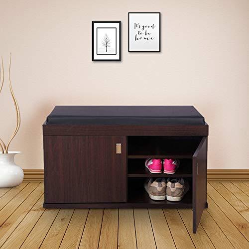 HomeTown HomeTown Engineered Wood Shoe Rack in Wenge Colour Home Storage   Organization
