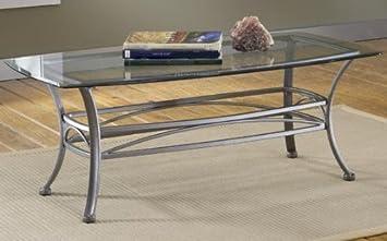 Amazoncom Abbington Coffee Table GLASS TOP DARK PEWTER Kitchen - Pewter glass coffee table