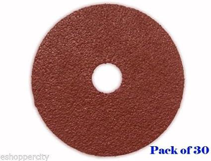 """100 Pack 4.5/"""" Black Hawk 36 Grit A//O Resin Fiber Disc Grinding /& Sanding Discs"""