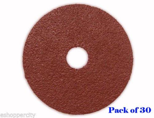 Pack 30 5'' 24g Resin Fiber Sanding Grinding Disc A/o 24 Grit Coarse 7/8'' Arbor