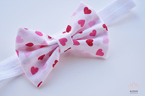 Valentines Headband, Valentine Baby Headband, Red Heart Headband, Heart Print Headband, Valentine's Baby Girl Headband, Headband For All Ages, Headbands For Babies and Toddlers, Ready To Ship