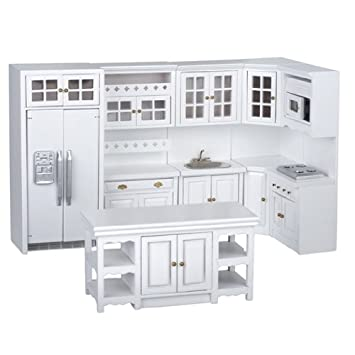 Amazon.com: Dollhouse Miniature 6-Pc. Hillgrove Kitchen Set: Toys ...