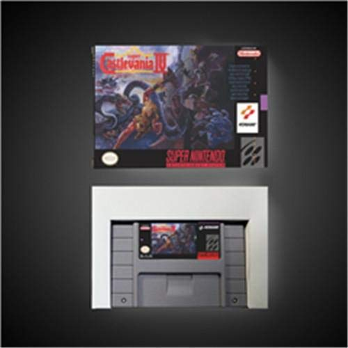 Game card Super Castlevania IV 4 - Action Game Card US Version with Retail Box Game Cartridge SNES , Game Cartridge 16 Bit SNES (Super Castlevania Iv)