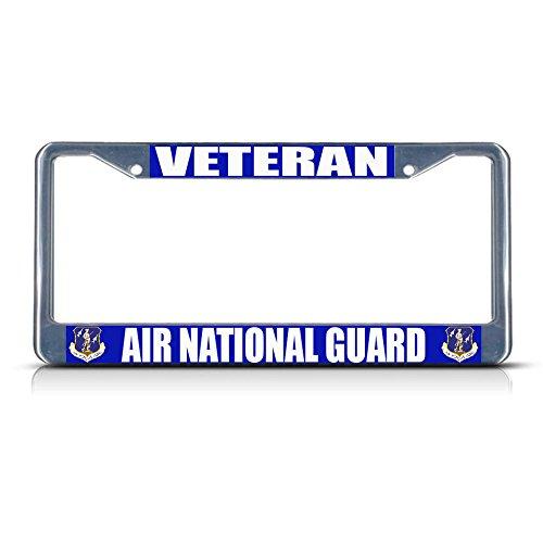- Veteran AIR National Guard AIR Force Metal License Plate Frame Tag Border Perfect for Men Women Car garadge Decor