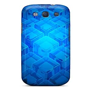 FutureStarCase Fashion Protective Blue Cubes Case Cover For Galaxy S3