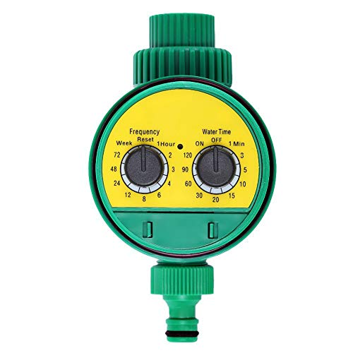 QuTess Garden Irrigation Timer Automatic Watering Irrigation Timer Knob Type Garden Sprinkler Hose Faucet Timer Outdoor Waterproof Automatic On Off Water Faucet Hose Water Timer