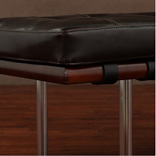 Cool Andalucia Large Dark Brown Upholstered Leather Bench Buy Ocoug Best Dining Table And Chair Ideas Images Ocougorg