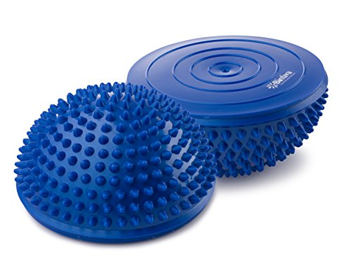 Balance Pods Set - 1 Pair Hedgehog Style Domed Stability Pods for Children and Adults, Blue