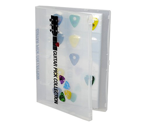 Guitar Pick Collection Kit - Holds 225 Picks - Clear Case