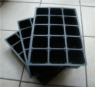3 x 15-Cell Seed Tray Cavity Inserts