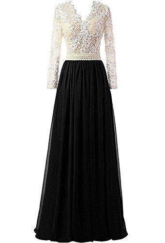 Black Applikation Abendkleider Bainjinbai Damen Ballkleider Cocktail Spitze Lang V Ausschnitt Brautjungfernkleider PqxUpXvfq