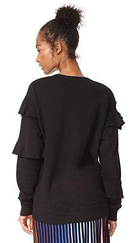 Wilt Women's Raw Ruffle Sweatshirt, Black, Large by Wilt (Image #2)