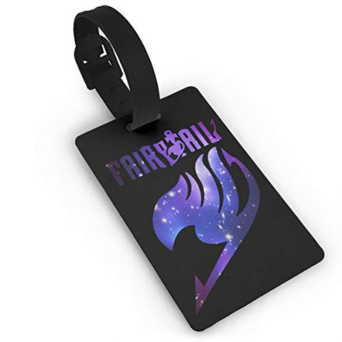 LuckyTagy Fairy Tail Anime Purple Logo Cool Luggage Tag Initial Bag Tag Suitcase Tag Travel Bag