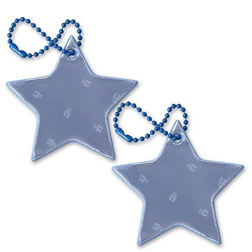 funflector Safety Reflector - Star - Blue - 2-pack
