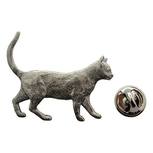 Walking Cat Pin ~ Antiqued Pewter ~ Lapel Pin ~ Sarah's Treats & Treasures