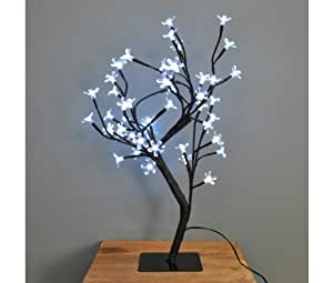 Martín pescador FT48 blanco Blossom LED Árbol de Bonsai