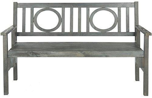 Safavieh Piedmont Folding Bench PAT6714A Ash Grey French Cou