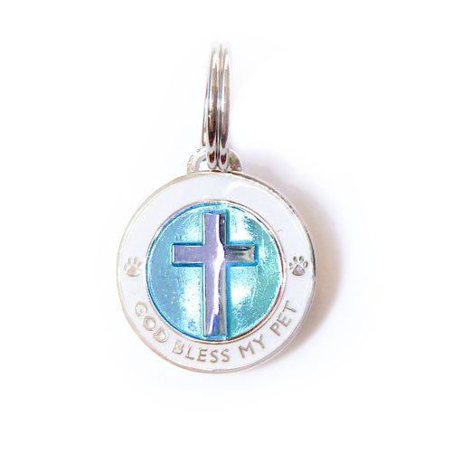 Luxepets Cross Charm Blue, Small
