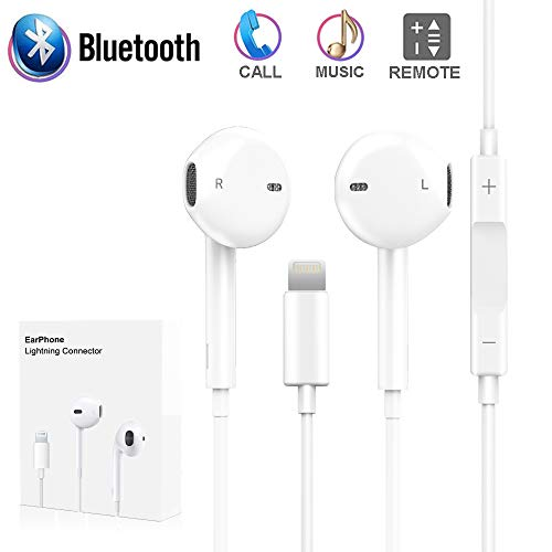 iPhone 7 Earbuds, Earphones Lightning Headphones iPhone 7 7plus/8/8plus, Onlier Microphone Earphones Stereo Headphones Noise Isolating Headset