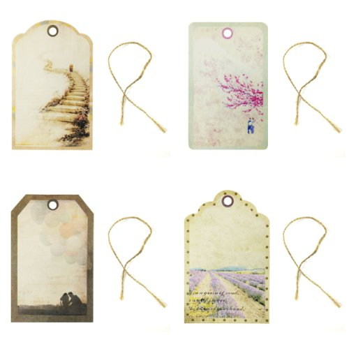 Wrapables Travelling Printing Tag for Scrapbooking, Set of 24